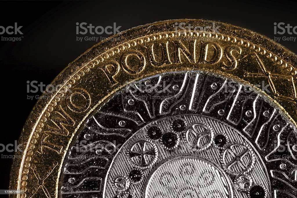 Two Pound royalty-free stock photo