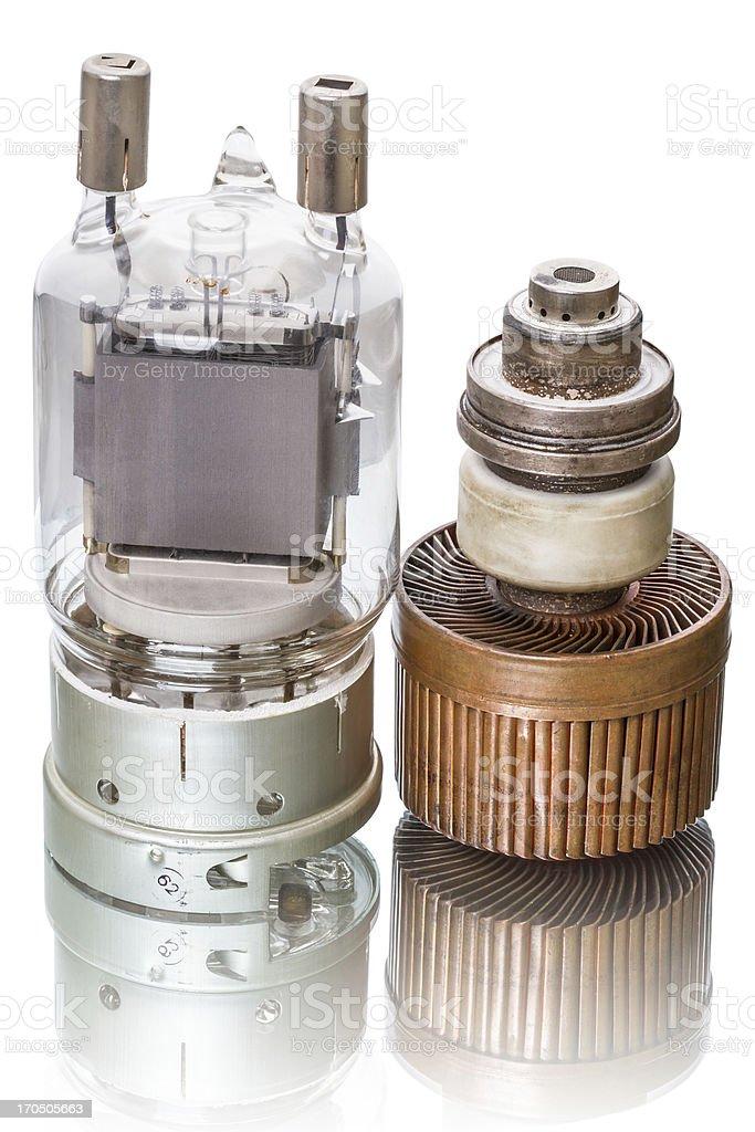Two power tubes stock photo