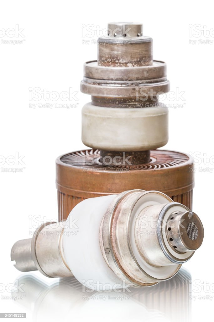 Two powerful triode stock photo