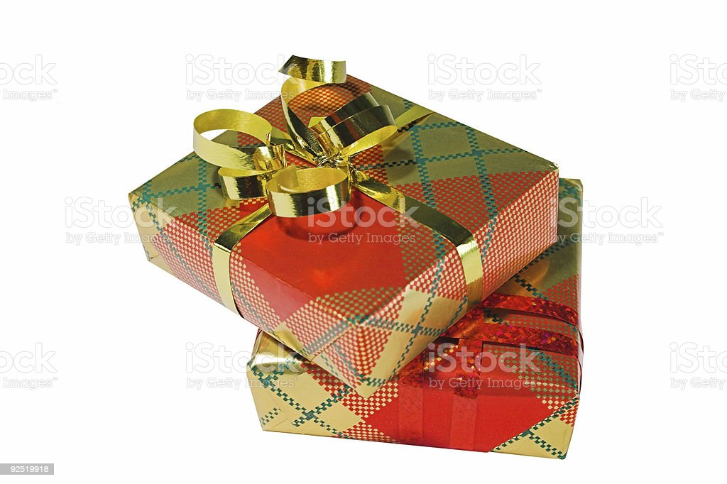 Two presents royalty-free stock photo