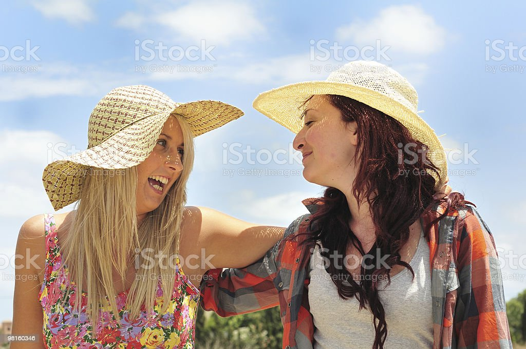 Two Pretty Girls in The Sunshine royalty-free stock photo