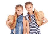 Two pretty twelve year old girls