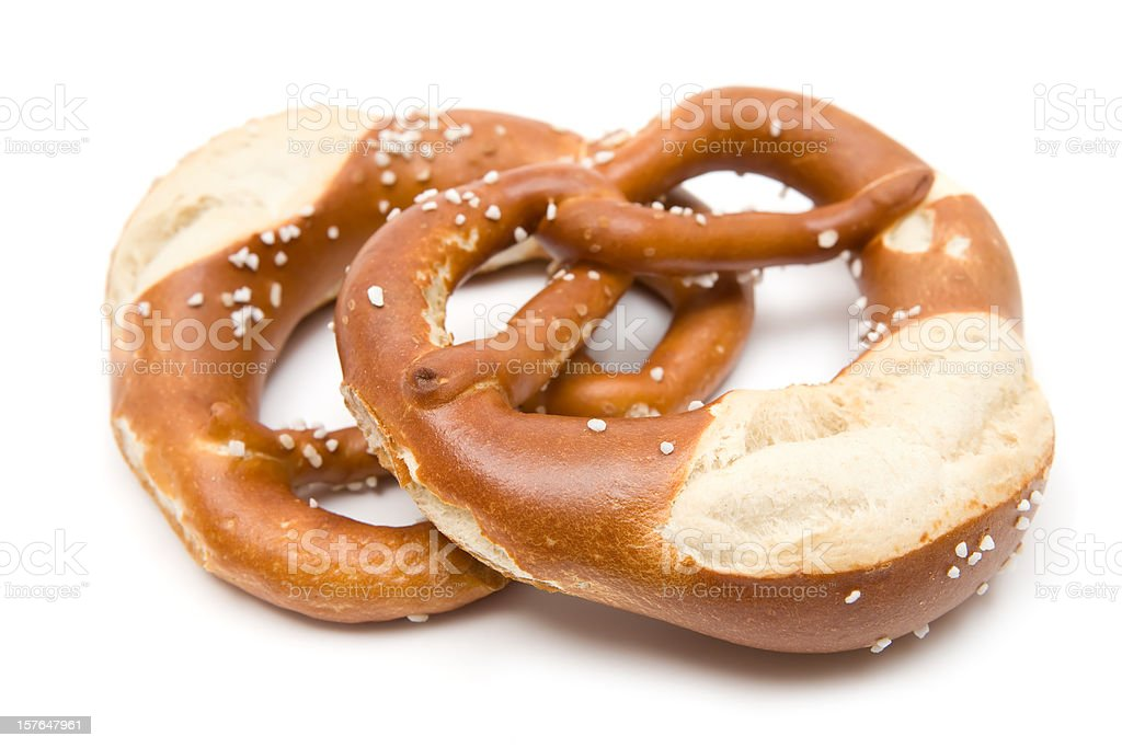 Two Pretzels stock photo