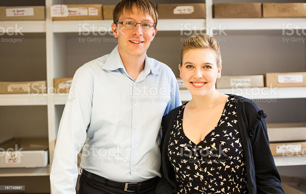 two professionals at work royalty-free stock photo
