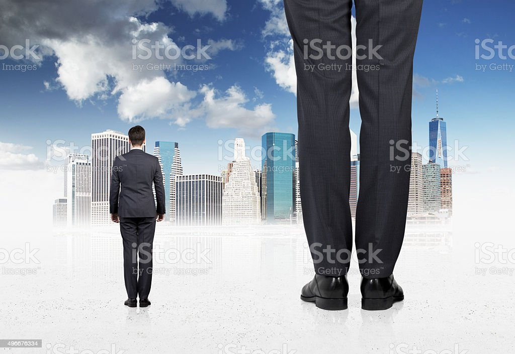 two professionals in suites stock photo