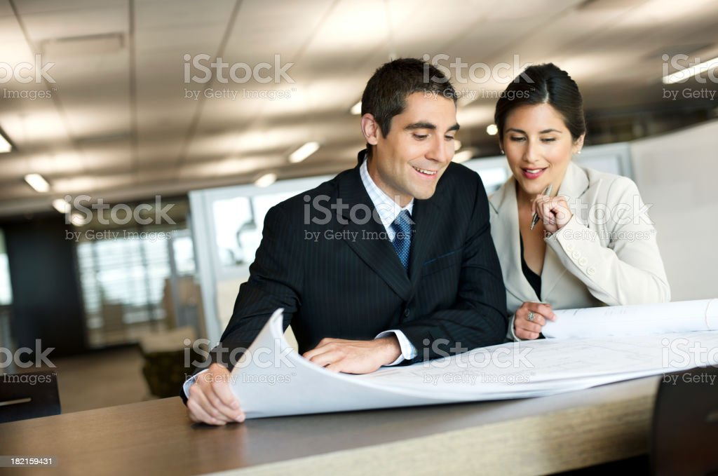 Two professionals planning royalty-free stock photo