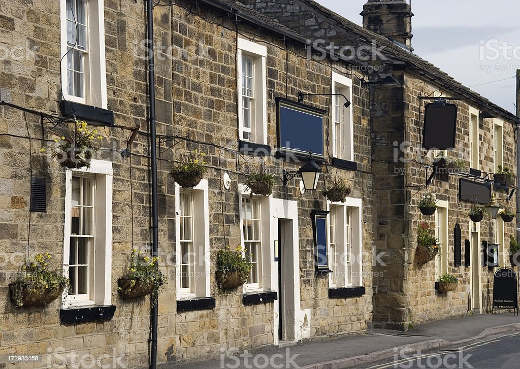 Two pubs stock photo