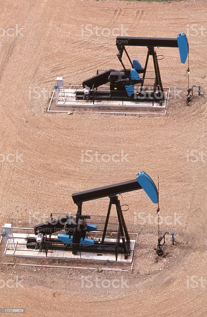 Two Pump Jacks royalty-free stock photo