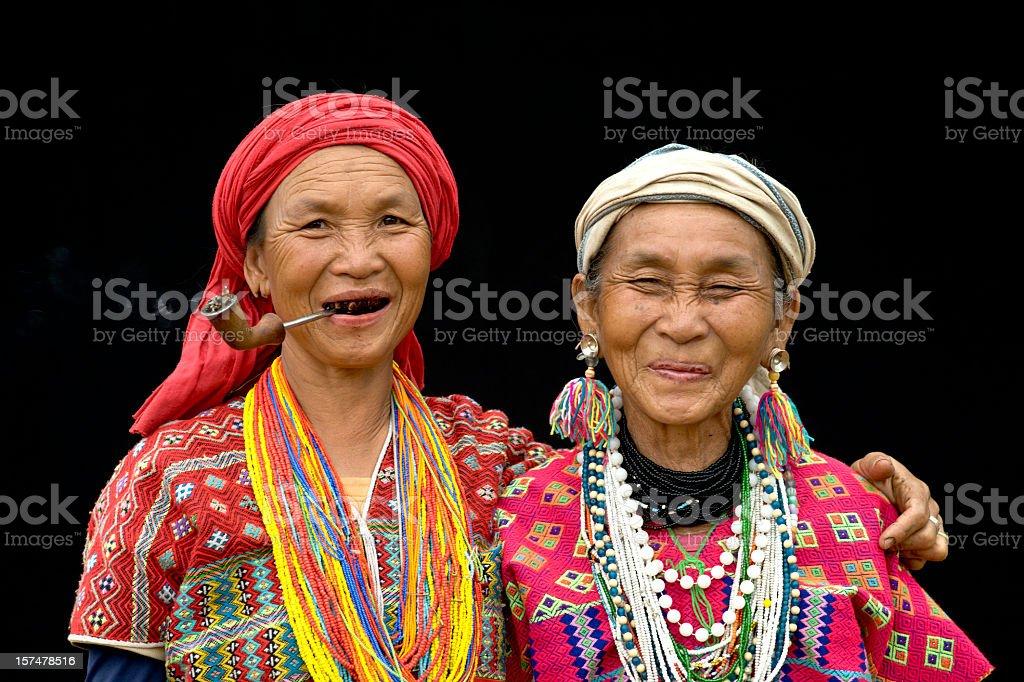 Two Pwo Karen Women stock photo