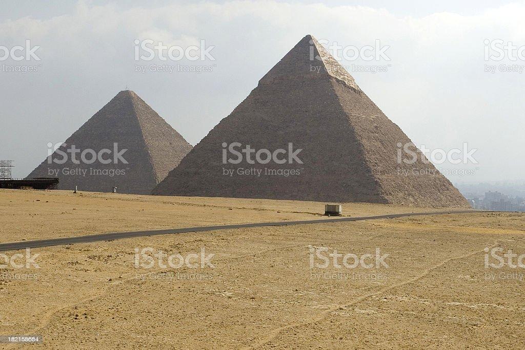 Two Pyramids royalty-free stock photo