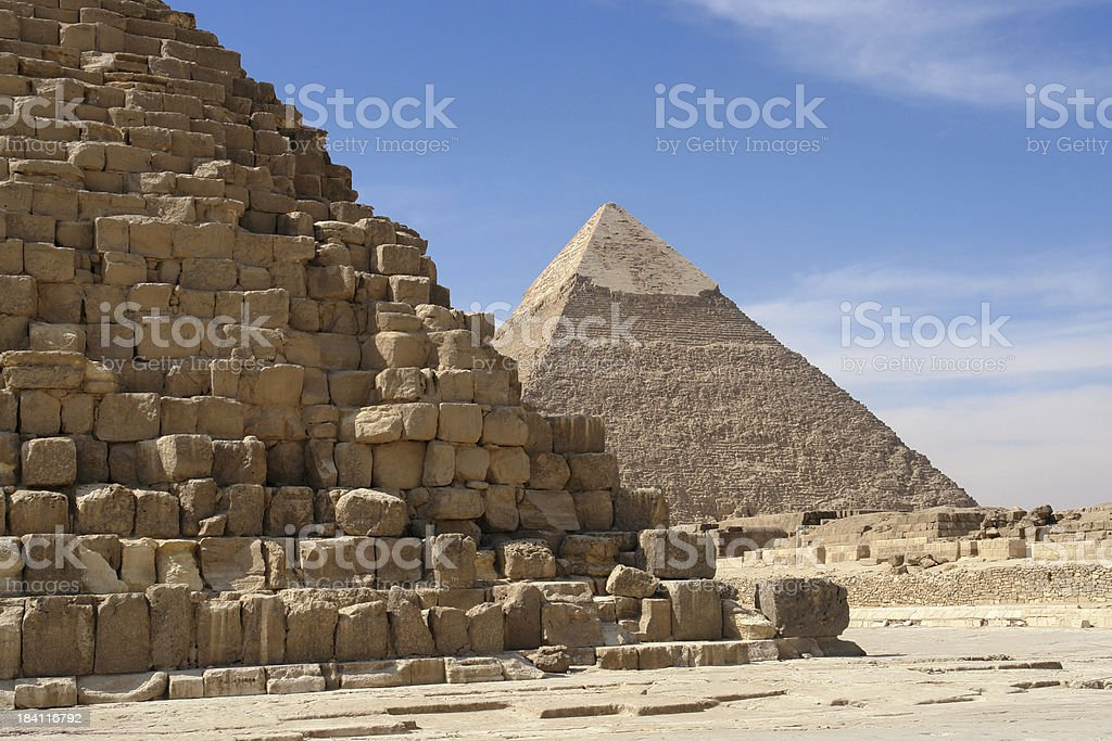 Two Pyramids royalty-free stock photo