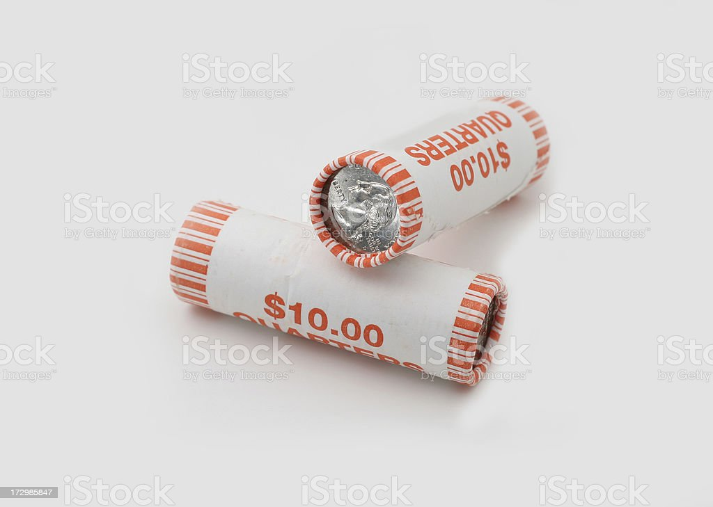 Two Quarter Rolls stock photo