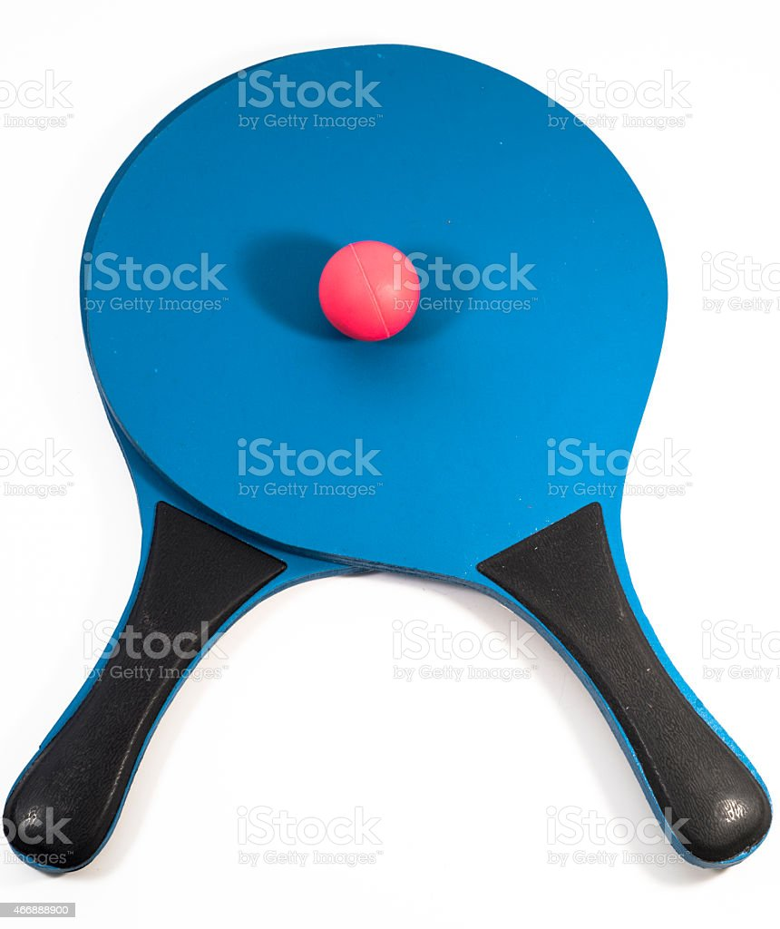 Two rackets and ball stock photo