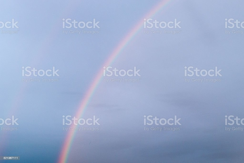 Two rainbow in the sky. stock photo