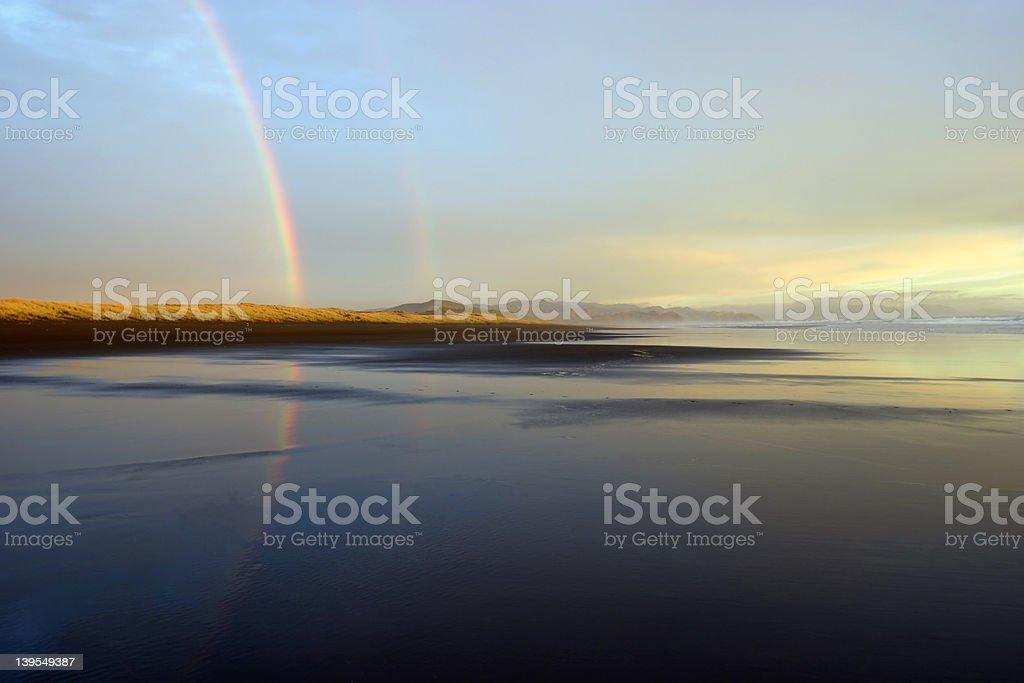 Two Rainbows royalty-free stock photo