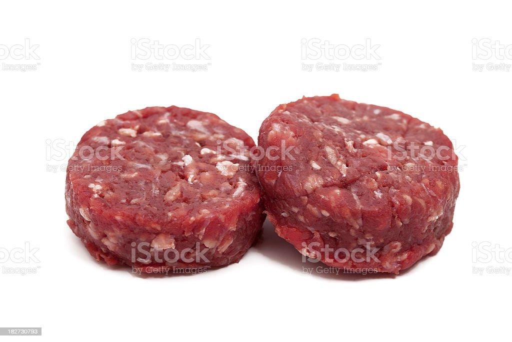 two raw hamburger royalty-free stock photo