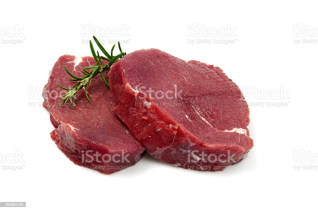 Two Raw Steaks stock photo