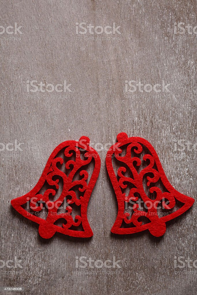 two red christmas bell stock photo