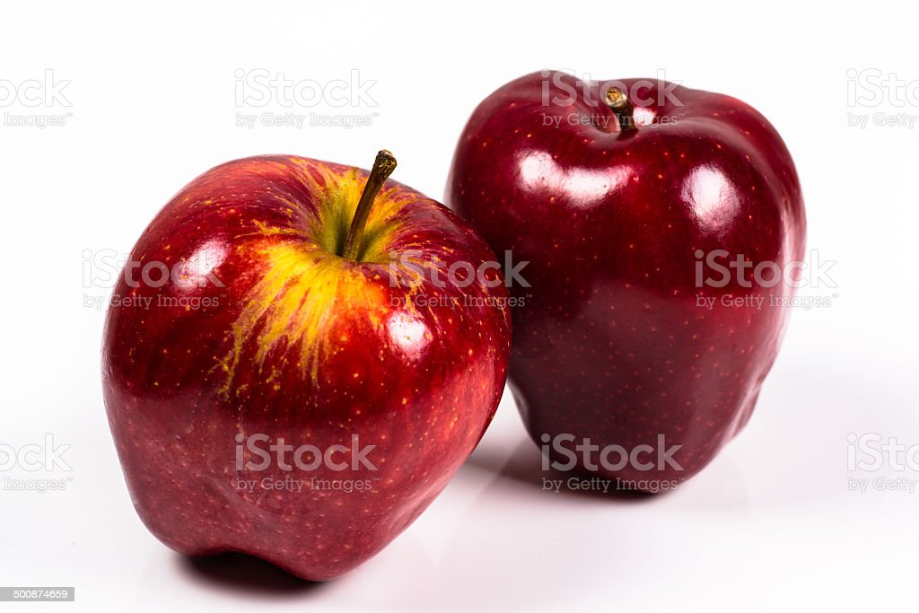 two red delicious apple on a white background royalty-free stock photo