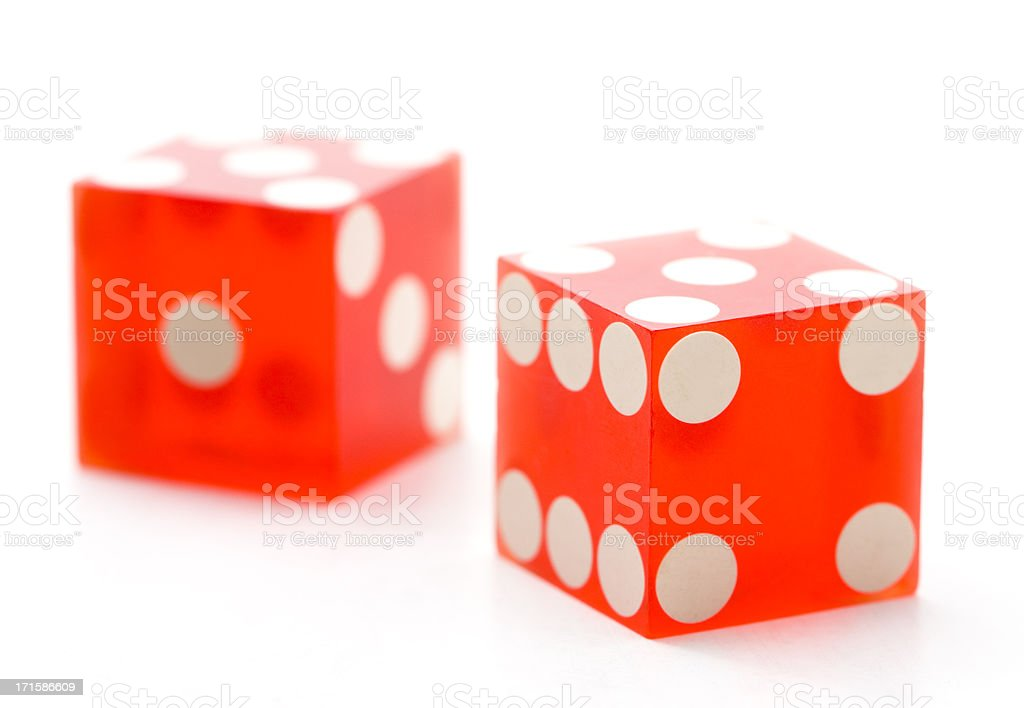 two red dice royalty-free stock photo