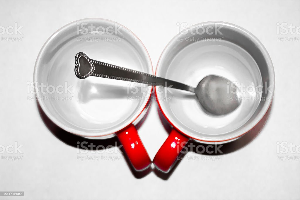 Two red directly above stock photo