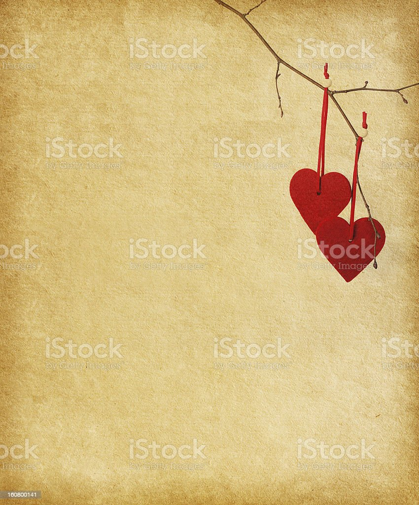 two red hearts. royalty-free stock photo