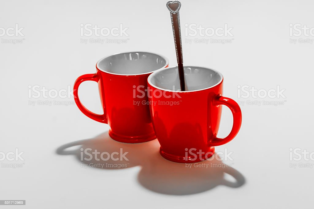 Two red isolated stock photo
