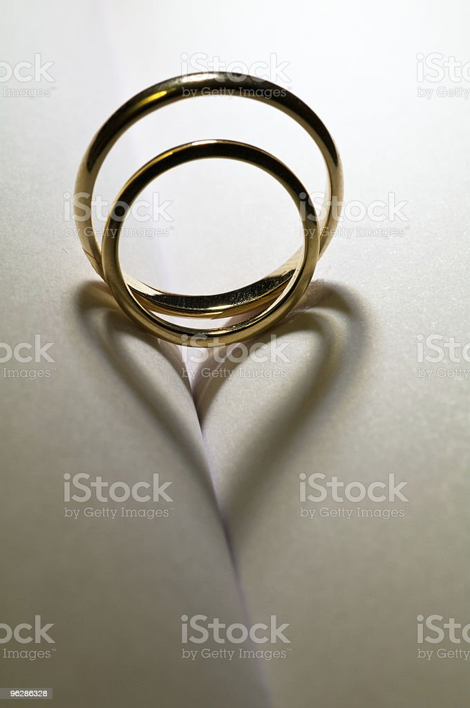 Two rings stock photo