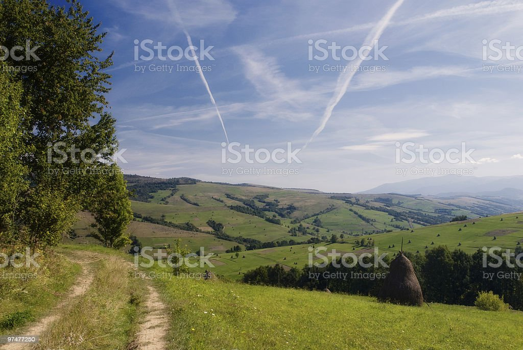 Two roads royalty-free stock photo