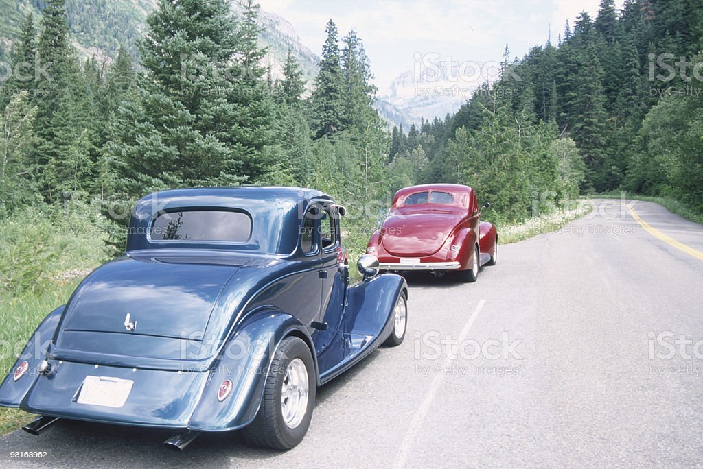 two roadsters royalty-free stock photo