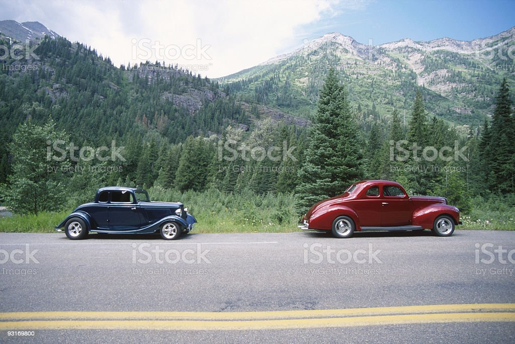 Two Roadsters stock photo