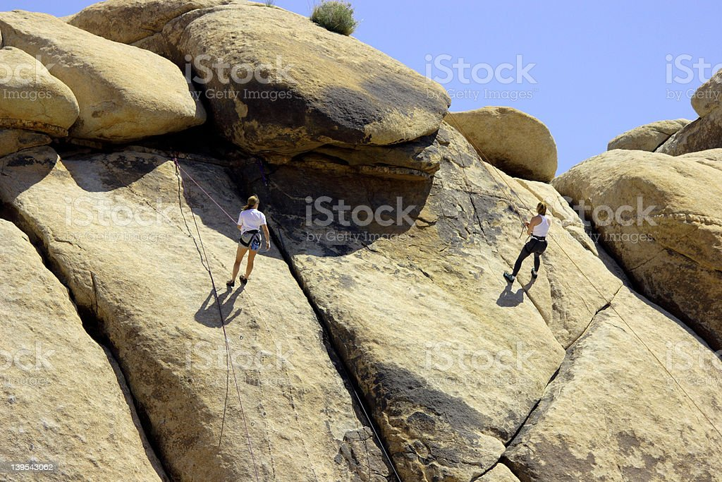 Two Rock Climber royalty-free stock photo