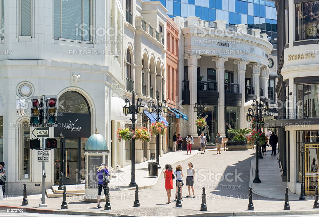 Two Rodeo Drive stock photo