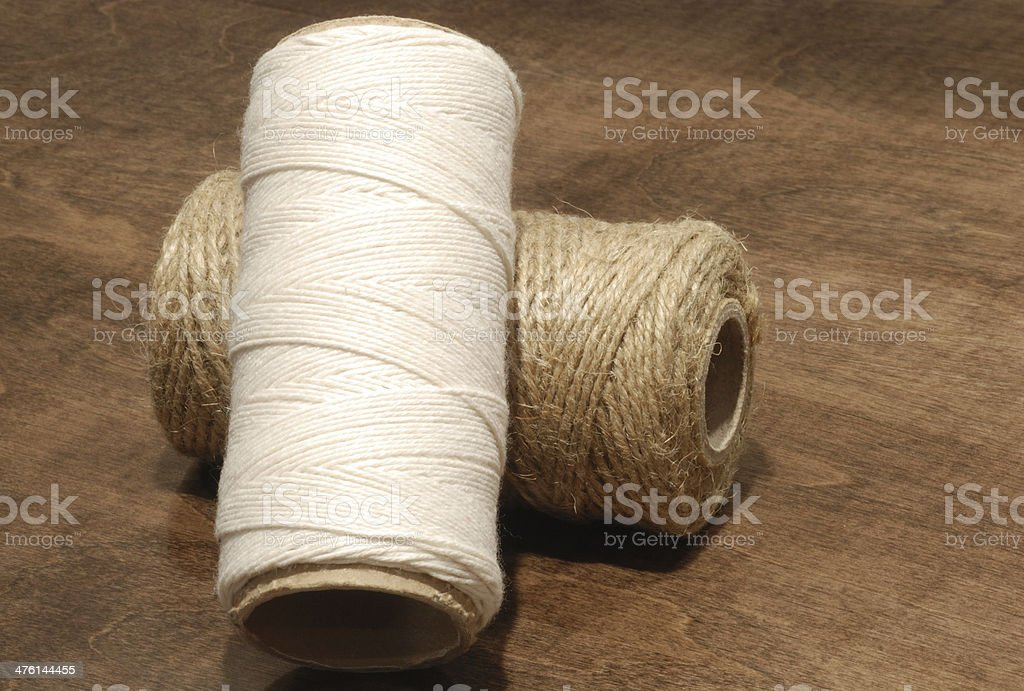 Two rolls of ropes. stock photo