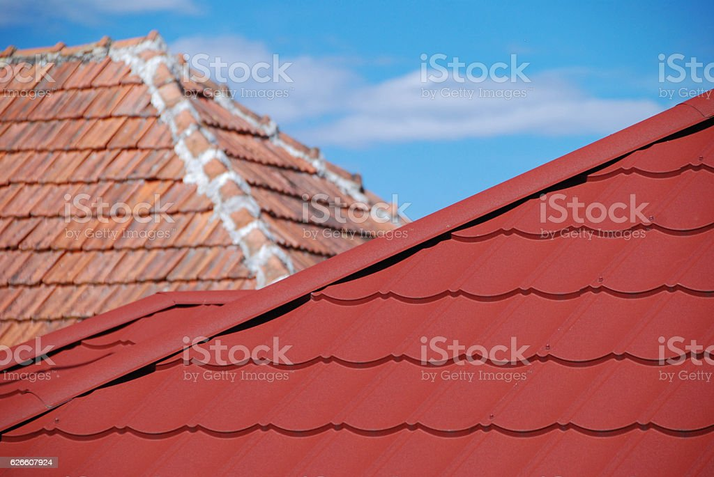 Two roofs royalty-free stock photo