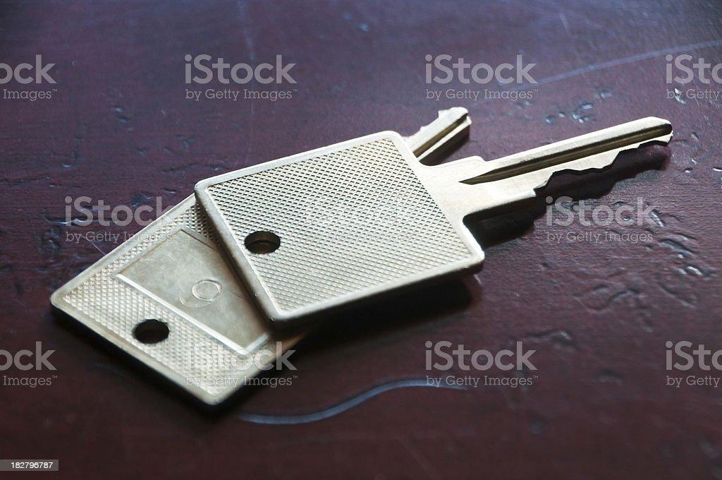 Two Room Keys royalty-free stock photo