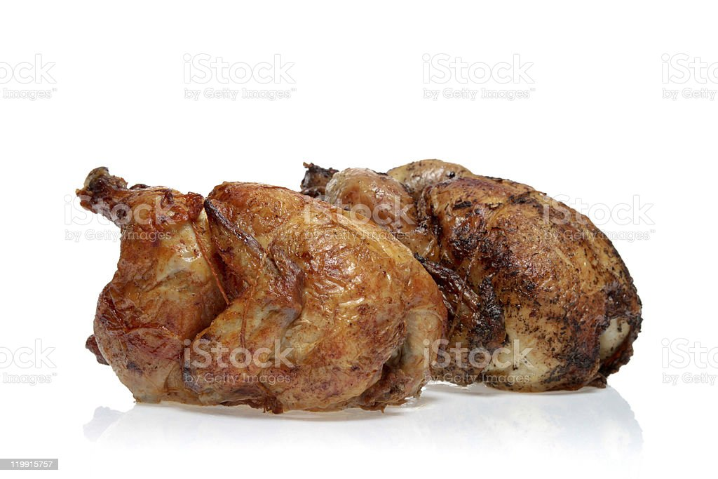 Two Rotisserie Chickens royalty-free stock photo