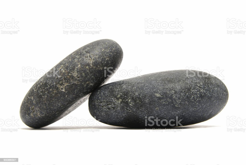 two round granit stones stock photo