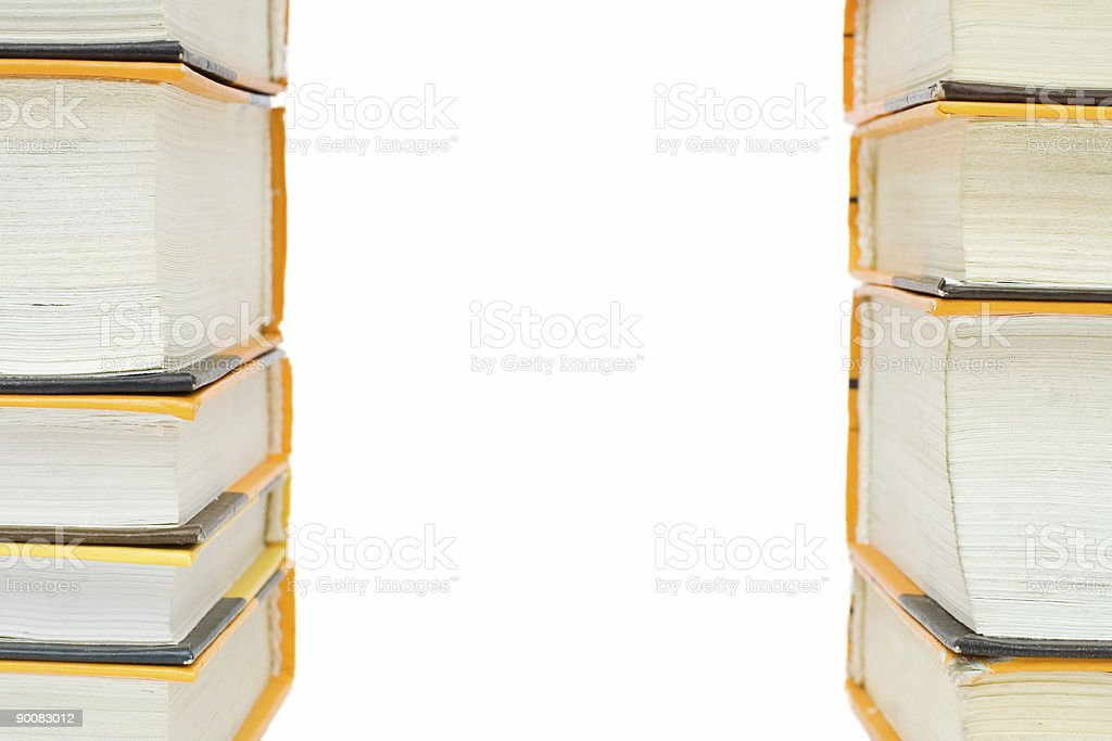 two row of books royalty-free stock photo