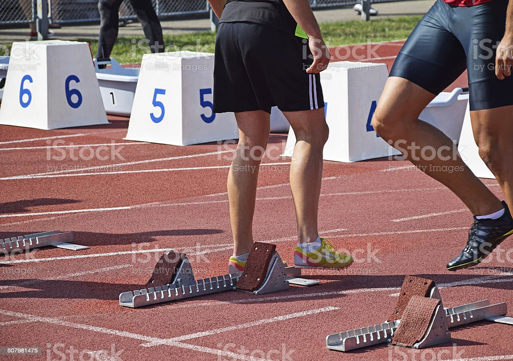 Two runners before start royalty-free stock photo