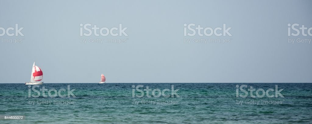 Two Sailboats stock photo