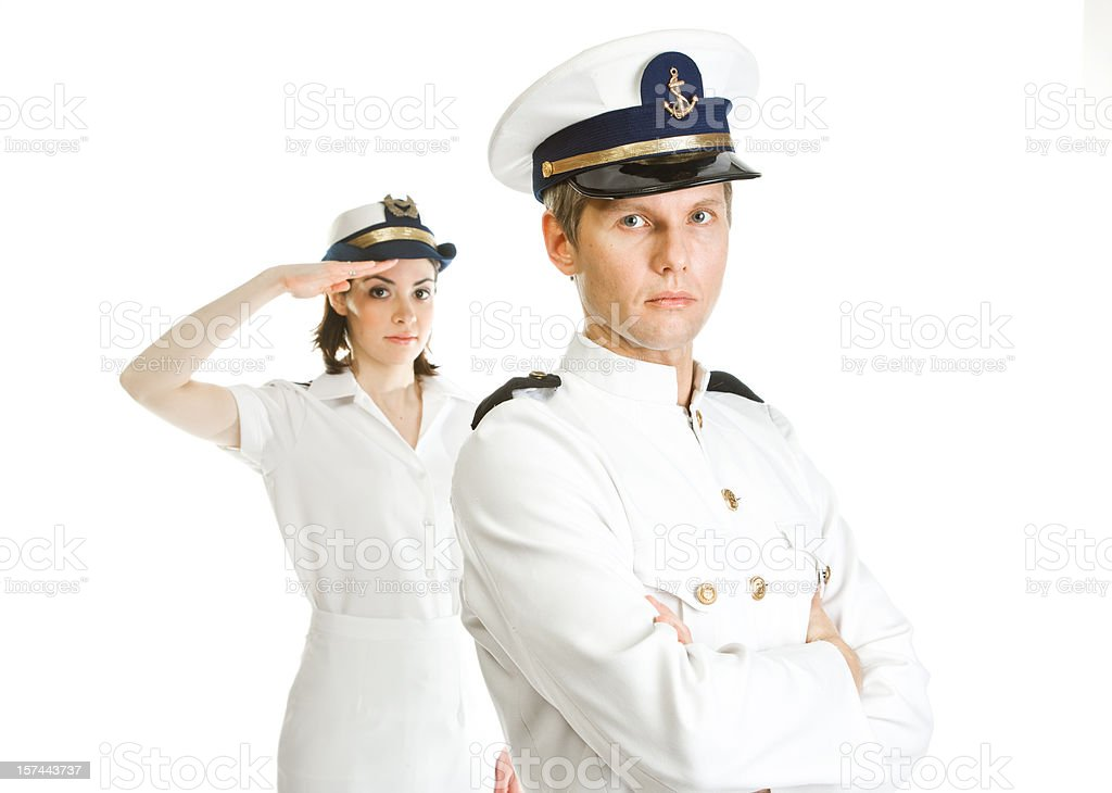 Two sailors royalty-free stock photo