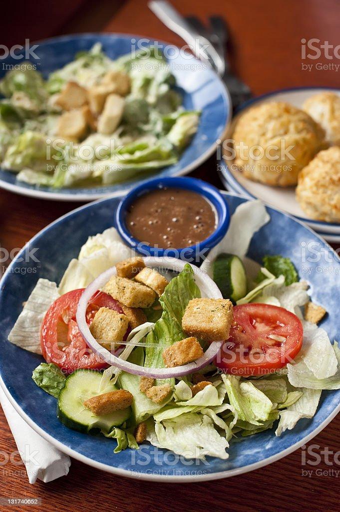 Two salads stock photo