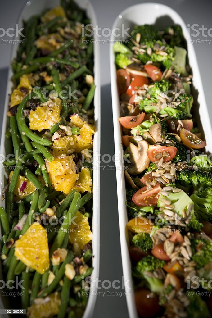 Two Salads royalty-free stock photo