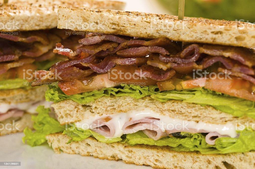 Two sandwich beautiful close-up shoot nice illuminated royalty-free stock photo
