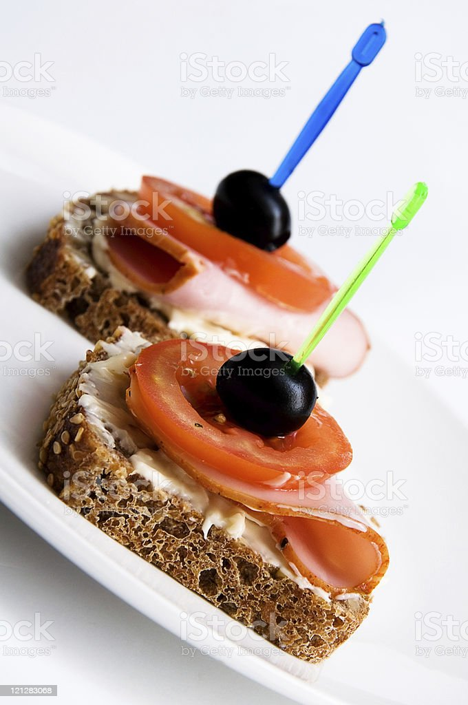 two sandwiches royalty-free stock photo