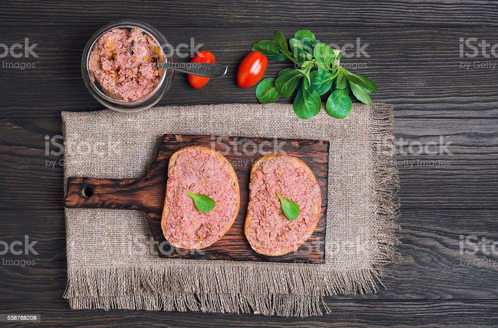Two sandwiches stock photo