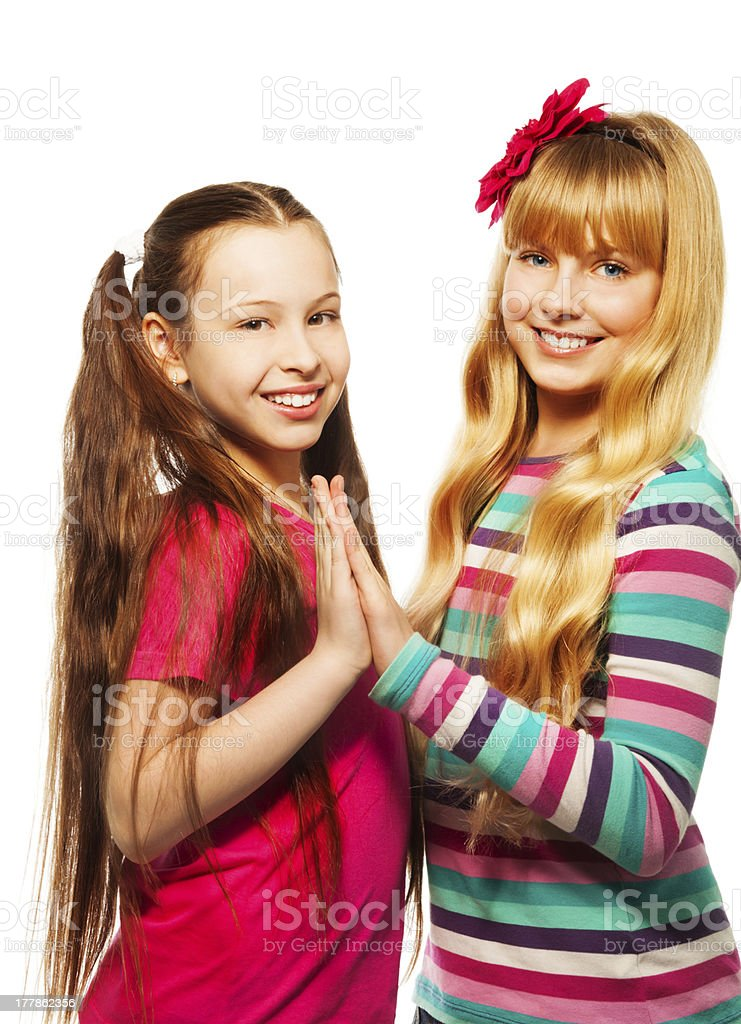 Two school friends royalty-free stock photo