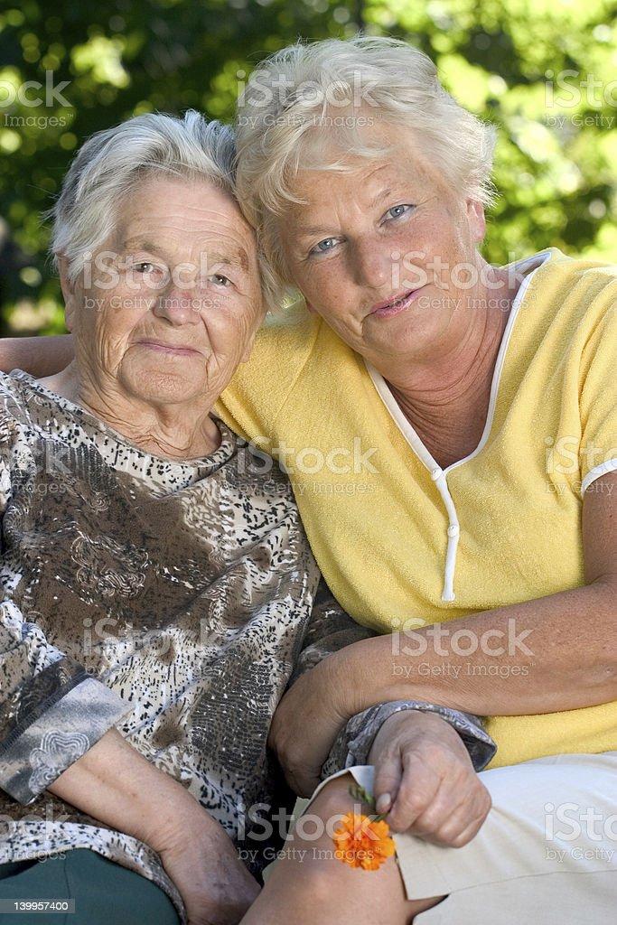 Two senior women royalty-free stock photo