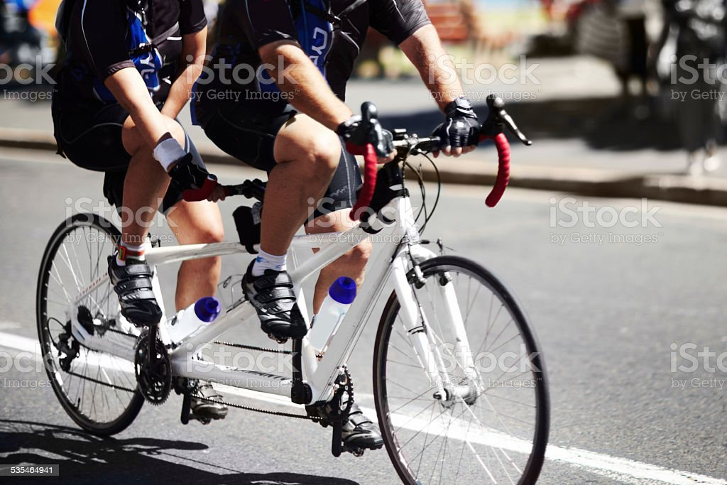 Two sets of legs are better than one! stock photo